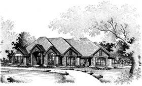European House Plan 97830 Elevation