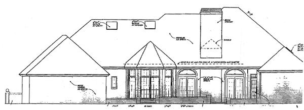 European House Plan 97830 Rear Elevation