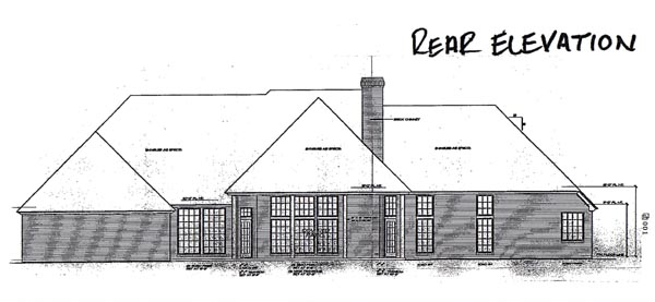 European House Plan 97837 Rear Elevation