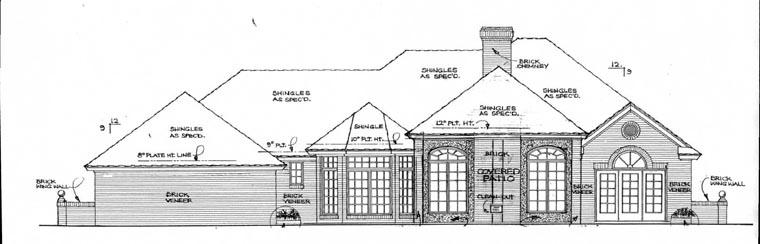 European House Plan 97840 Rear Elevation