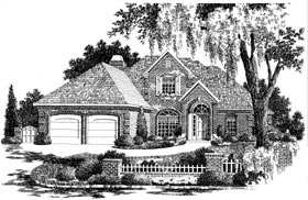 European House Plan 97842 Elevation