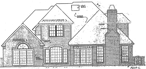 European House Plan 97842 Rear Elevation