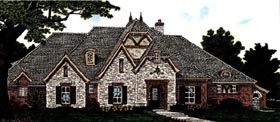 Country, European House Plan 97845 with 4 Beds, 4 Baths, 4 Car Garage Elevation