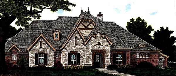 Country European House Plan 97845 Elevation