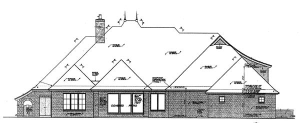 Country European House Plan 97845 Rear Elevation