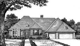 European House Plan 97849 Elevation