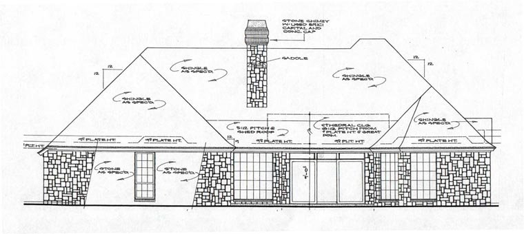 European House Plan 97849 Rear Elevation