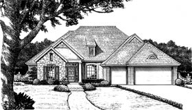 Bungalow, European House Plan 97850 with 4 Beds , 3 Baths , 3 Car Garage Elevation