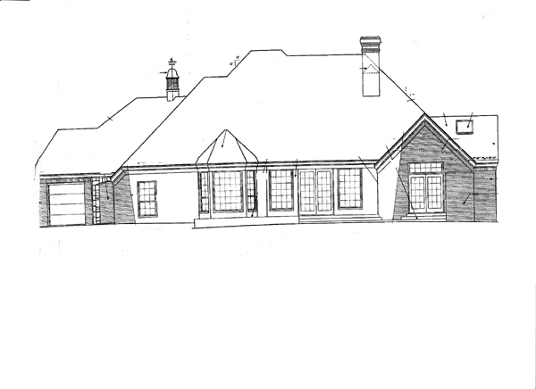 Bungalow European House Plan 97857 Rear Elevation