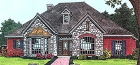Bungalow , European House Plan 97858 with 3 Beds, 3 Baths, 3 Car Garage Elevation