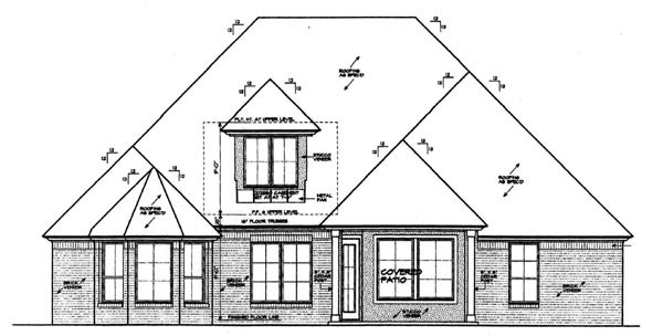 Country European House Plan 97860 Rear Elevation