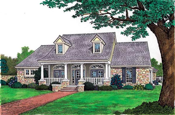 House Plan 97862 | Bungalow, Cape, Cod, Country Style House Plan with 2387 Sq Ft, 3 Bed, 3 Bath, 3 Car Garage Elevation