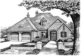 Bungalow European House Plan 97863 Elevation
