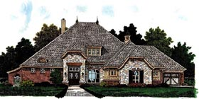 Country , European House Plan 97864 with 3 Beds, 4 Baths, 3 Car Garage Elevation