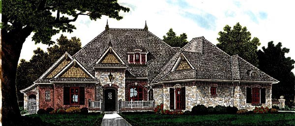 Country European House Plan 97865 Elevation