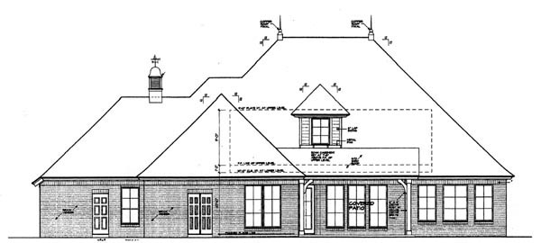 Country European House Plan 97865 Rear Elevation