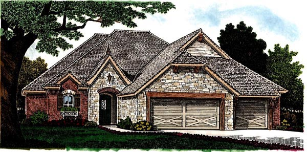 Country European House Plan 97866 Elevation