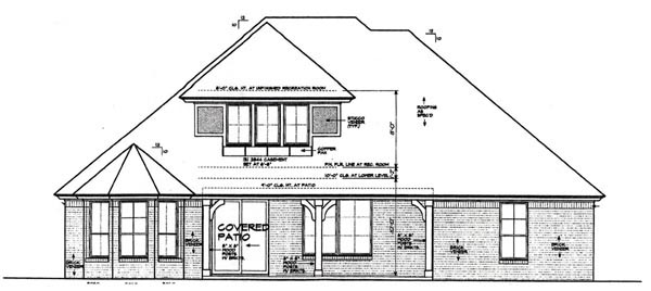 Country European House Plan 97866 Rear Elevation