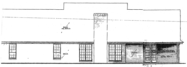 Country , Rear Elevation of Plan 97867