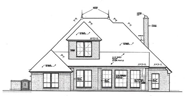 Country European House Plan 97873 Rear Elevation