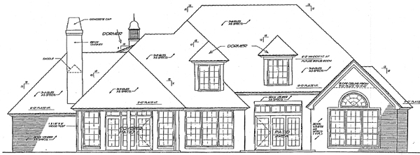 Bungalow European French Country House Plan 97874 Rear Elevation