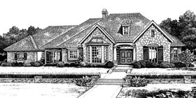Bungalow European House Plan 97875 Elevation