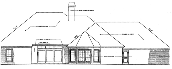 Bungalow European House Plan 97875 Rear Elevation