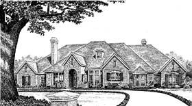 European House Plan 97877 Elevation