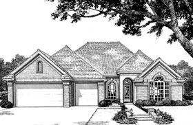 European House Plan 97878 Elevation