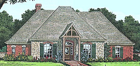 Bungalow, European House Plan 97879 with 4 Beds, 3 Baths, 3 Car Garage Elevation
