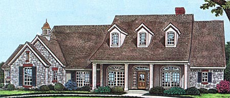 Bungalow Cape Cod Country House Plan 97883 Elevation