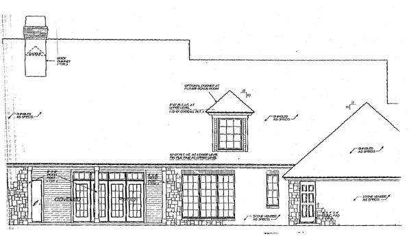 Bungalow Cape Cod Country House Plan 97883 Rear Elevation