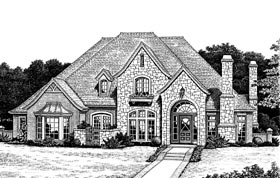 European Tudor House Plan 97884 Elevation