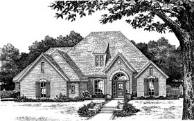 European House Plan 97885 Elevation
