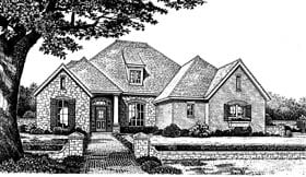 Bungalow European House Plan 97886 Elevation