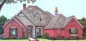 House Plan 97887   European Style Plan with 2546 Sq Ft, 4 Bedrooms, 3 Bathrooms, 3 Car Garage Elevation