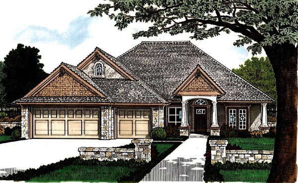 Country European House Plan 97888 Elevation