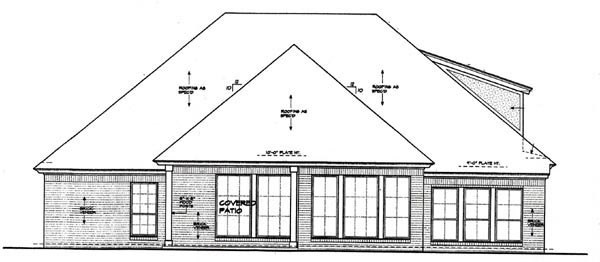 Country European House Plan 97888 Rear Elevation