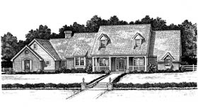 Cape Cod Country French Country House Plan 97889 Elevation