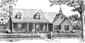 Bungalow , Country , One-Story House Plan 97890 with 3 Beds, 3 Baths, 3 Car Garage Elevation