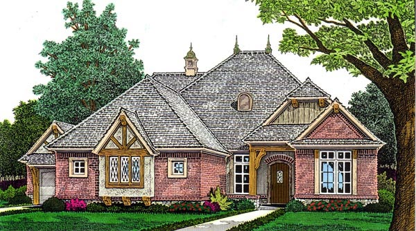 Country European House Plan 97894 Elevation