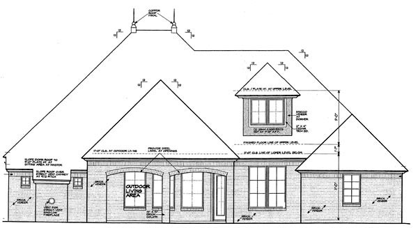 Country European House Plan 97894 Rear Elevation