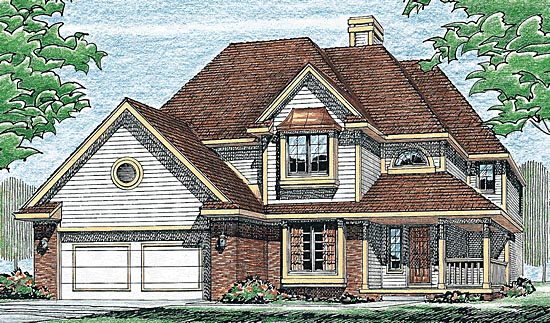 Contemporary Farmhouse Traditional House Plan 97904 Elevation