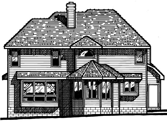 Contemporary Farmhouse Traditional House Plan 97904 Rear Elevation