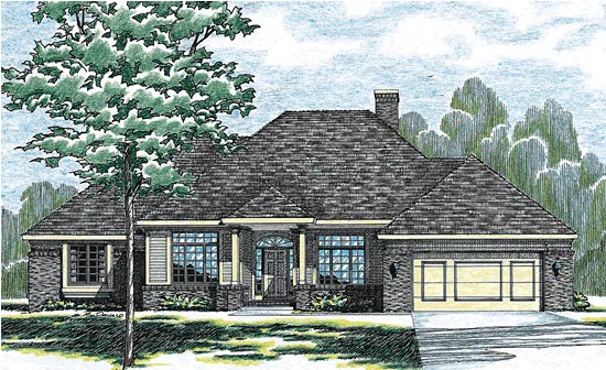 Traditional House Plan 97907 Elevation