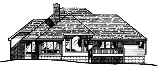 Traditional House Plan 97907 Rear Elevation