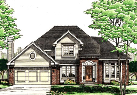 Traditional House Plan 97908 Elevation