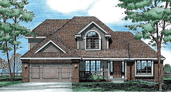 European House Plan 97909 Elevation