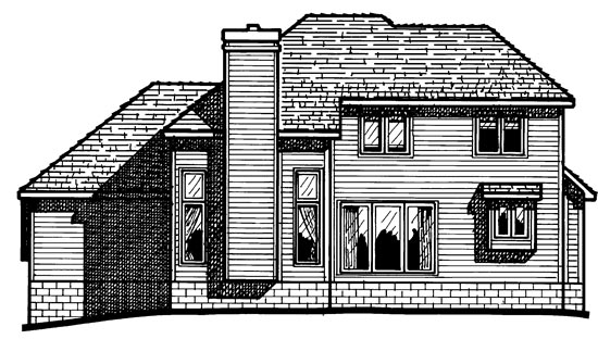 European House Plan 97909 Rear Elevation