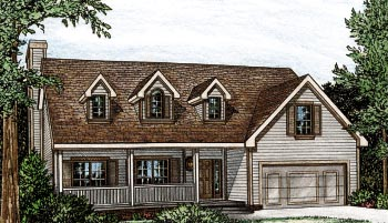 Bungalow Cape Cod House Plan 97913 Elevation